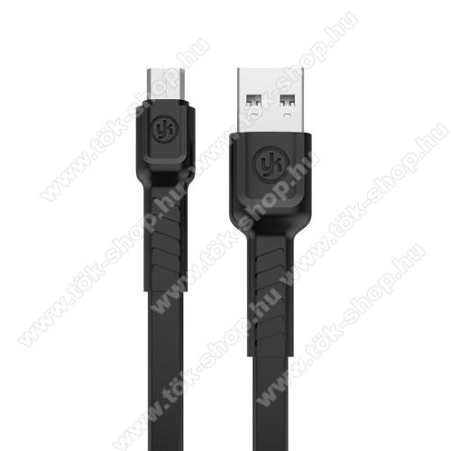 REMAX adatátviteli kábel / USB töltő - microUSB, 1m hosszú, 2.1A - FEKETE - GYÁRI