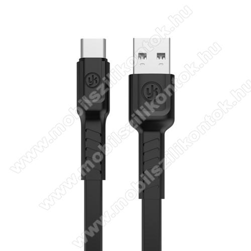 REMAX adatátviteli kábel / USB töltő - USB 3.1 Type C, 1m hosszú, 2.1A - FEKETE - GYÁRI