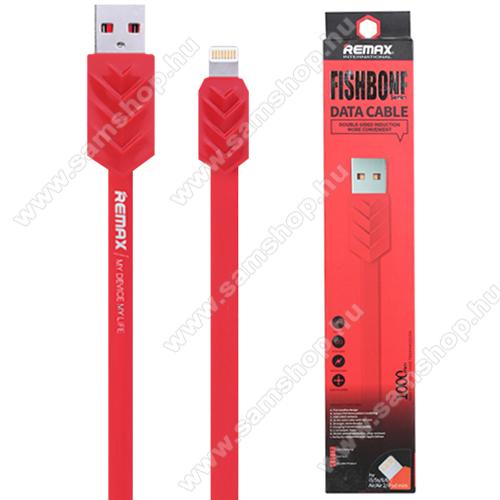 REMAX FISHBONE adatátviteli kábel / USB töltő - Lightning / USB, 1m hosszú lapos kábel - PRIOS - GYÁRI