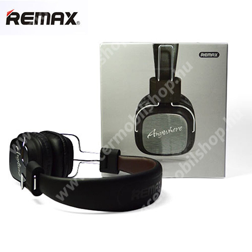 ACER Iconia Tab 8 A1-840FHD REMAX Hi-Fi sztereó fejhallgató / headset - 3,5mm Jack, mikrofon, felvevõ gomb, 32Ω, 20mW, összecsukható, 1,2m hosszú vezeték - FEKETE - RM-100H - GYÁRI