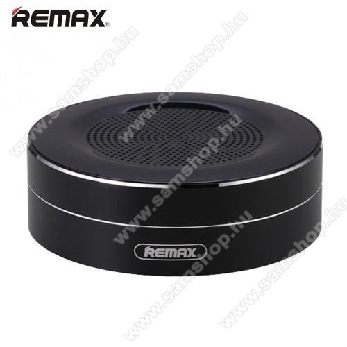 REMAX M13 hordozható bluetooth hangszóró - FEKETE - v.4.0, 3,5 jack bemenet, microSD memóriakártyaolvasó, 500mAh akkumulátor - GYÁRI