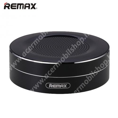 ACER Liquid Z3 REMAX M13 hordozható bluetooth hangszóró - FEKETE - v.4.0, 3,5 jack bemenet, microSD memóriakártyaolvasó, 500mAh akkumulátor - GYÁRI