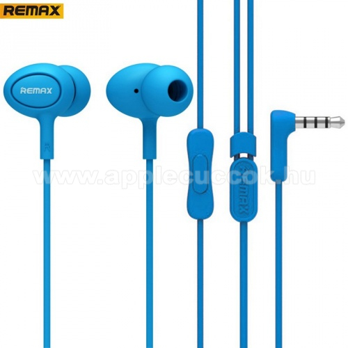 APPLE IPhone 5S REMAX RM-515 UNIVERZ�LIS SZTEREO headset / james bond  - 3,5mm jack, felvev? gomb, 3 p�r f�lgumi - K�K - GY�RI