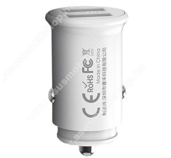 ASUS Zenfone 2 Laser (ZE500KL)REMAX ROKI szivargyújtós töltő / autós töltő - 2 x USB aljzat, 5V / 4.8A (max!), kábel NÉLKÜL! - FEHÉR - RCC219_W - GYÁRI