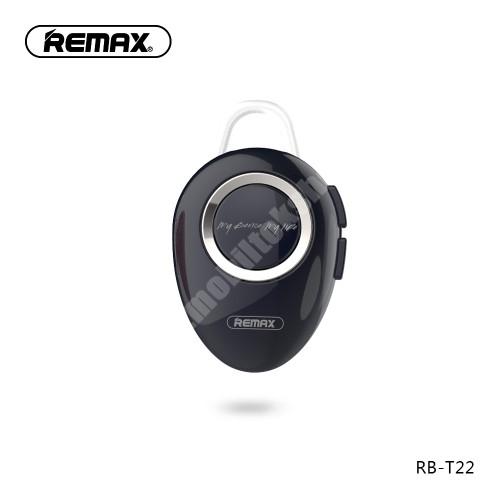 MOTOROLA Moto G4 REMAX T22 bluetooth headset - v.4.2 + EDR, A2DP/HFP/ HSP/AVRCP, egyszerre 2 különböző telefonnal használható! - FEKETE - GYÁRI