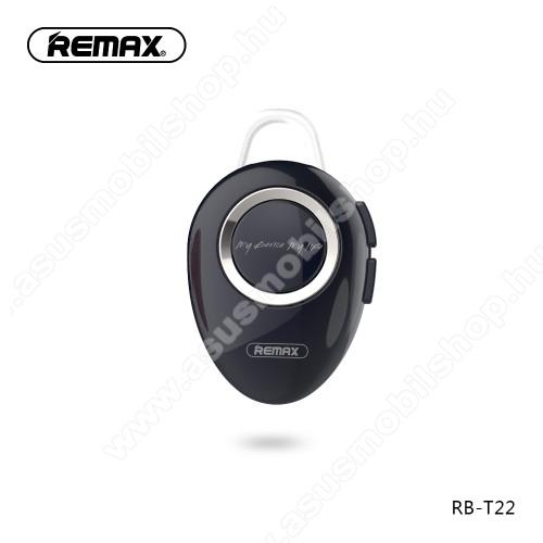 ASUS Zenfone 2 Laser (ZE500KL)REMAX T22 bluetooth headset - v.4.2 + EDR, A2DP/HFP/ HSP/AVRCP, egyszerre 2 különböző telefonnal használható! - FEKETE - GYÁRI