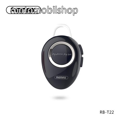 MOTOROLA E8 REMAX T22 bluetooth headset - v.4.2 + EDR, A2DP/HFP/ HSP/AVRCP, egyszerre 2 különböző telefonnal használható! - FEKETE - GYÁRI