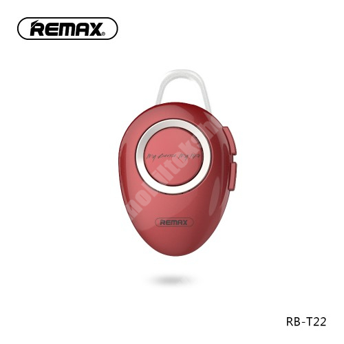 MOTOROLA Moto G4 REMAX T22 bluetooth headset - v.4.2 + EDR, A2DP/HFP/ HSP/AVRCP, egyszerre 2 különböző telefonnal használható! - PIROS - GYÁRI