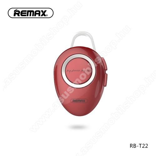 ASUS Zenfone 2 Laser (ZE500KL)REMAX T22 bluetooth headset - v.4.2 + EDR, A2DP/HFP/ HSP/AVRCP, egyszerre 2 különböző telefonnal használható! - PIROS - GYÁRI