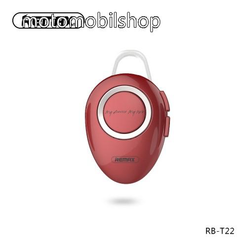 MOTOROLA E8 REMAX T22 bluetooth headset - v.4.2 + EDR, A2DP/HFP/ HSP/AVRCP, egyszerre 2 különböző telefonnal használható! - PIROS - GYÁRI