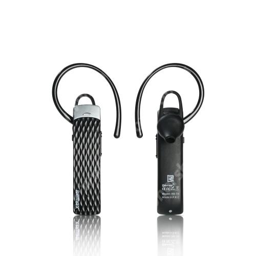 REMAX T9 BLUETOOTH MONO HEADSET - FEKETE - V4.1 WT, beépített mikrofon, fülbe dugható, beépített 100mAh akkumulátor - GYÁRI