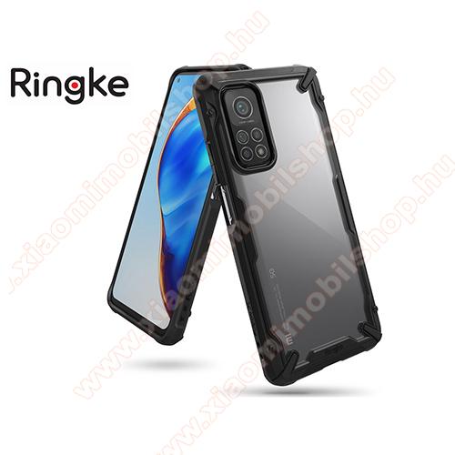 RINGKE Fusion X műanyag védő tok / átlátszó hátlap - FEKETE - szilikon belső, MIL STD 810G-516.6 minősítés, ERŐS VÉDELEM! - Xiaomi Mi 10T 5G / Mi 10T Pro 5G / Redmi K30S - GYÁRI