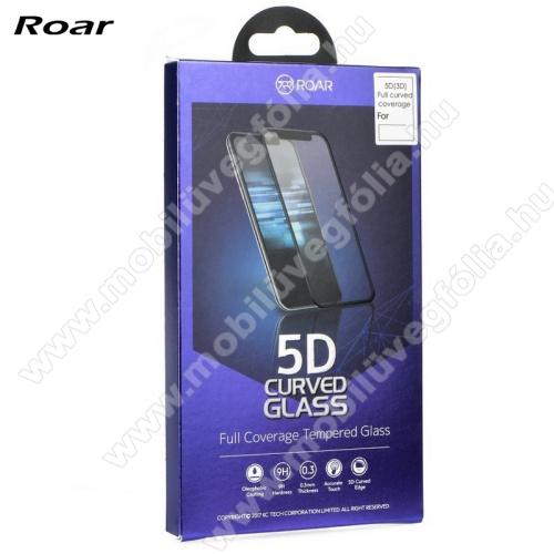 ROAR 5D előlap védő karcálló edzett üveg - FEKETE - 0,3mm, 9H, A teljes felületén tapad! - SAMSUNG Galaxy A40 (SM-A405F) - A TELJES KIJELZŐT VÉDI! - GYÁRI