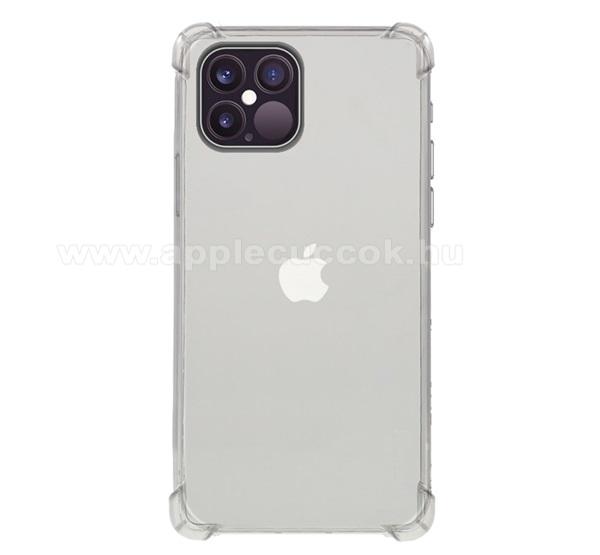 APPLE iPhone 12 Pro MaxROAR JELLY ARMOR műanyag védő tok / hátlap - ÁTLÁTSZÓ - szilikon szegély, erősített sarkok, ERŐS VÉDELEM! - APPLE iPhone 12 Pro Max - GYÁRI