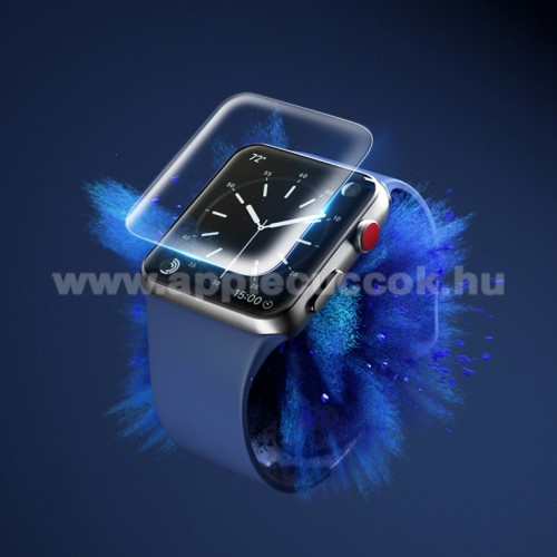 APPLE Watch Series 3 42mm ROCK Hydrogel képernyővédő fólia - CLEAR - 2DB - A TELJES ELŐLAPOT VÉDI! - Apple Watch 1/2/3 - 42mm