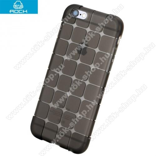 ROCK MAGIC Szilikon védő tok / hátlap (kockaminta) - FEKETE - APPLE iPhone 6 Plus / APPLE iPhone 6s Plus