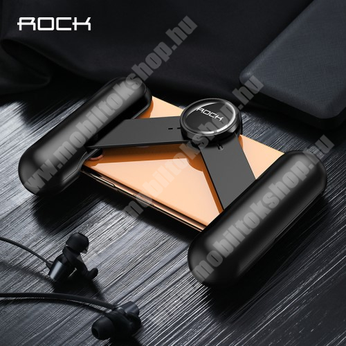 """ZTE Blade A520 ROCK UNIVERZÁLIS Kontroller / telefontartó - FPS játékokhoz, összecsukható, hőelvezető lyukak, 6.5""""-os méretig kompatibilis okostelefonokkal - FEKETE - GYÁRI"""