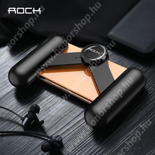 """ROCK UNIVERZÁLIS Kontroller / telefontartó - FPS játékokhoz, összecsukható, hőelvezető lyukak, 6.5""""-os méretig kompatibilis okostelefonokkal - FEKETE - GYÁRI"""