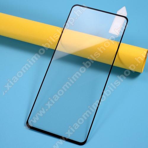 RURIHAI 2.5D előlap védő karcálló edzett üveg, 9H, 0.26mm - FEKETE - A TELJES KIJELZŐT VÉDI! - Xiaomi Redmi Note 9S / Redmi Note 9 Pro / Redmi Note 9 Pro Max / Poco M2 Pro - GYÁRI