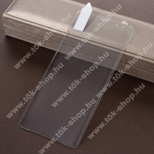 RURIHAI 3D Curved előlap védő karcálló edzett üveg - ÁTLÁTSZÓ - SONY Xperia XZ3 - A TELJES KIJELZŐT VÉDI! - GYÁRI