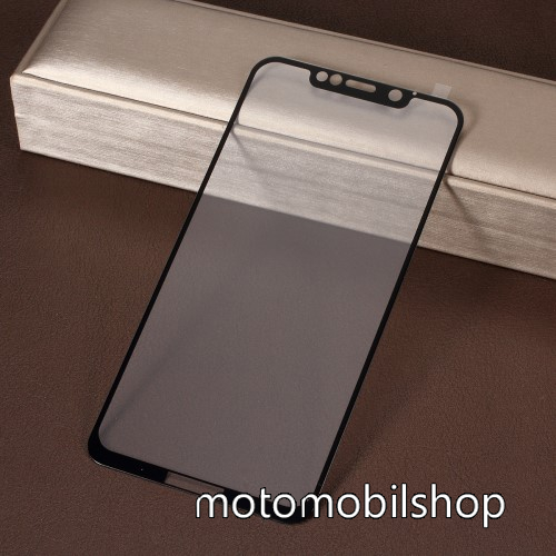 RURIHAI 3D előlap védő karcálló edzett üveg, 0.26mm - FEKETE - MOTOROLA One Power (P30 Note) - A TELJES KIJELZŐT VÉDI! - GYÁRI