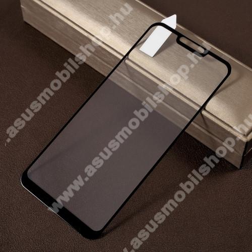 RURIHAI 3D előlap védő karcálló edzett üveg, 0.26mm - FEKETE - ASUS Zenfone Max (M2) (ZB633KL) - A TELJES KIJELZŐT VÉDI! - GYÁRI