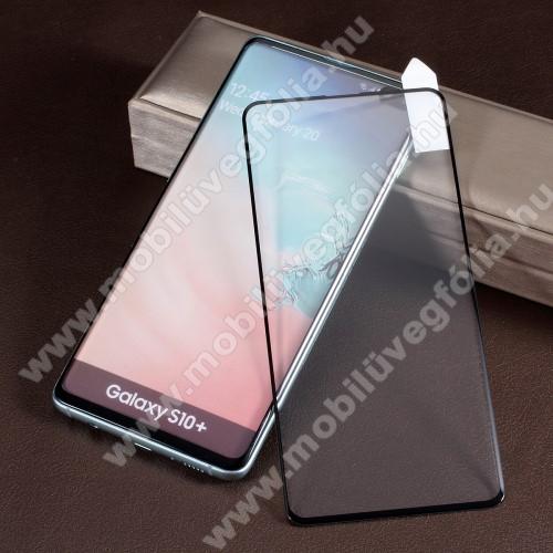 RURIHAI 3D előlap védő karcálló edzett üveg - FEKETE - 0,26mm, 9H, A teljes felületén tapad! - SAMSUNG SM-G975F Galaxy S10+ - A TELJES KIJELZŐT VÉDI! - GYÁRI