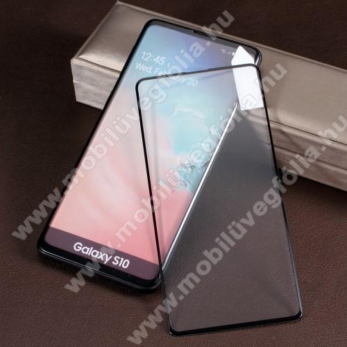 RURIHAI 3D előlap védő karcálló edzett üveg - FEKETE - 0,26mm, 9H, A teljes felületén tapad! - SAMSUNG SM-G973F Galaxy S10 - A TELJES KIJELZŐT VÉDI! - GYÁRI