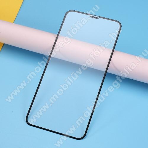 RURIHAI 3D előlap védő karcálló edzett üveg, 0.26mm - FEKETE - A TELJES KIJELZŐT VÉDI! - APPLE iPhone 11 Pro Max / APPLE iPhone XS Max - GYÁRI