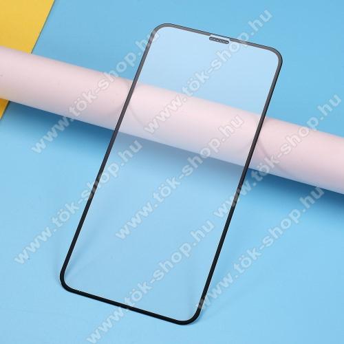 RURIHAI 3D előlap védő karcálló edzett üveg, 0.26mm - FEKETE - A TELJES KIJELZŐT VÉDI! - APPLE iPhone 11 / APPLE iPhone Xr - GYÁRI