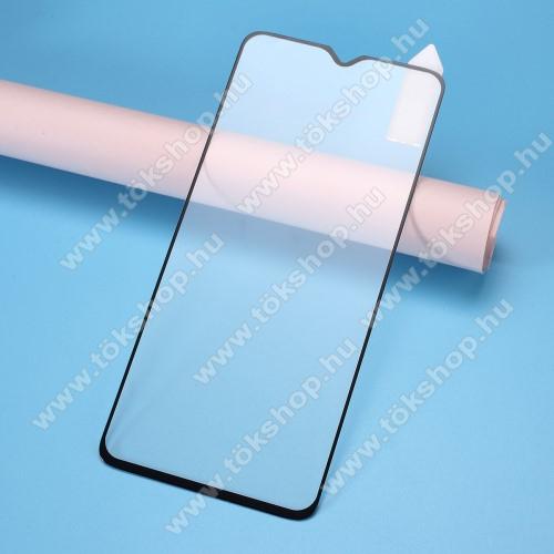 RURIHAI 3D előlap védő karcálló edzett üveg, 0.26mm, a teljes felületén tapad - FEKETE - Xiaomi Redmi Note 8 Pro - A TELJES KIJELZŐT VÉDI! - GYÁRI