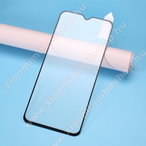 RURIHAI 3D előlap védő karcálló edzett üveg, 0.26mm - FEKETE - Xiaomi Redmi Note 8 - A TELJES KIJELZŐT VÉDI! - GYÁRI