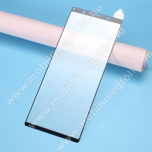 RURIHAI 3D előlap védő karcálló edzett üveg, 0.26mm - FEKETE - Sony Xperia 5 - A TELJES KIJELZŐT VÉDI! - GYÁRI