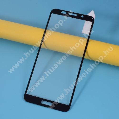 RURIHAI 3D előlap védő karcálló edzett üveg, 0.26mm, a teljes felületén tapad - FEKETE - HUAWEI Y5p / HONOR 9S - A TELJES KIJELZŐT VÉDI! - GYÁRI