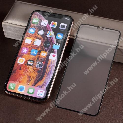 RURIHAI 3D előlap védő karcálló edzett üveg, 0.26mm, a teljes felületén tapad, MATT! - FEKETE - A TELJES KIJELZŐT VÉDI! - APPLE iPhone 11 Pro / iPhone X / iPhone XS - GYÁRI