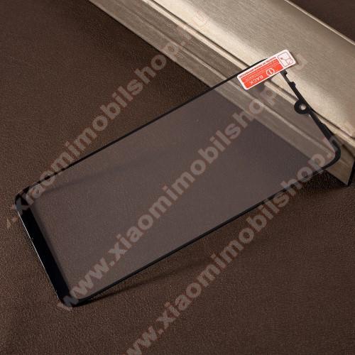 RURIHAI előlap védő karcálló edzett üveg - FEKETE - 0,26mm, 9H, A teljes felületén tapad! - Xiaomi Redmi Note 7 / Xiaomi Redmi Note 7 Pro - A TELJES KIJELZŐT VÉDI! - GYÁRI