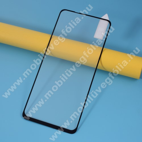 RURIHAI előlap védő karcálló edzett üveg, 0.26mm, 9H - FEKETE - A TELJES KIJELZŐT VÉDI! - Xiaomi Redmi Note 9 / Xiaomi Redmi 10X 4G - GYÁRI