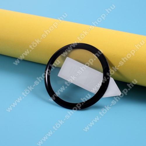 RURIHAI okosóra előlap védő karcálló edzett üveg - 1db, 9H, 3D, A teljes felületén tapad! - A TELJES ELŐLAPOT VÉDI! - FEKETE - SAMSUNG Galaxy Watch Active2 40mm - GYÁRI