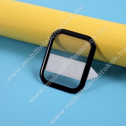 RURIHAI okosóra előlap védő karcálló edzett üveg - 1db, 9H, 3D, A teljes felületén tapad! - A TELJES ELŐLAPOT VÉDI! - FEKETE - Xiaomi Amazfit GTS / Xiaomi Amazfit BIP Lite / Huami Amazfit Youth Edition Lite - GYÁRI