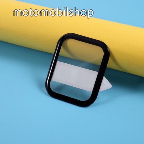 RURIHAI okosóra előlap védő karcálló edzett üveg - 1db, 9H, 3D, A teljes felületén tapad! - A TELJES ELŐLAPOT VÉDI! - FEKETE - Xiaomi Amazfit GTS / Xiaomi Amazfit BIP Lite / BIP S / Huami Amazfit Youth Edition Lite - GYÁRI