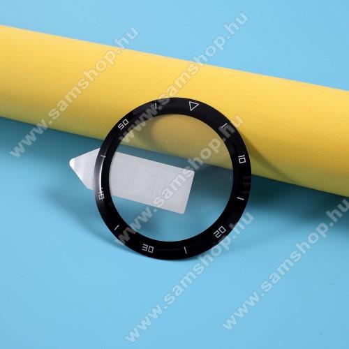 RURIHAI okosóra előlap védő karcálló flexibilis edzett üveg - 1db, 9H, 3D, A teljes felületén tapad! - A TELJES ELŐLAPOT VÉDI! - FEKETE - HUAWEI Watch GT 2e - GYÁRI