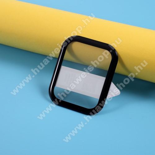 RURIHAI okosóra előlap védő karcálló flexibilis edzett üveg - 1db, 9H, 3D, A teljes felületén tapad! - A TELJES ELŐLAPOT VÉDI! - FEKETE - Xiaomi Amazfit GTS / Xiaomi Amazfit BIP Lite / BIP S / Huami Amazfit Youth Edition Lite - GYÁRI