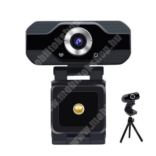 """HomTom C2 S50 HD 1080P USB webkamera - 1080P HD, két mikrofonnal, univerzális 1/4"""" foglalat, 75° látószög, állítható dőlésszög, 2 Megapixel, 1920 x 1080, 25fps-30fps, USB csatlakozás, 7,2 x 8,6 x 3,8 cm - FEKETE"""