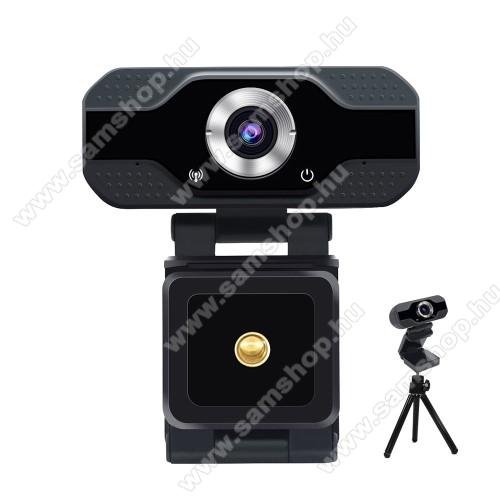 S50 HD 1080P USB webkamera - 1080P HD, két mikrofonnal, univerzális 1/4