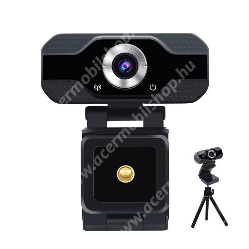 """ACER Liquid Z3 S50 HD 1080P USB webkamera - 1080P HD, két mikrofonnal, univerzális 1/4"""" foglalat, 75° látószög, állítható dőlésszög, 2 Megapixel, 1920 x 1080, 25fps-30fps, USB csatlakozás, 7,2 x 8,6 x 3,8 cm - FEKETE"""