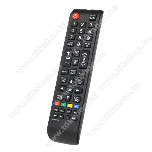 SAMSUNG AA59-00741A utángyártott TV távirányító -  2x AAA elemmel működik (NEM TARTOZÉK) - FEKETE