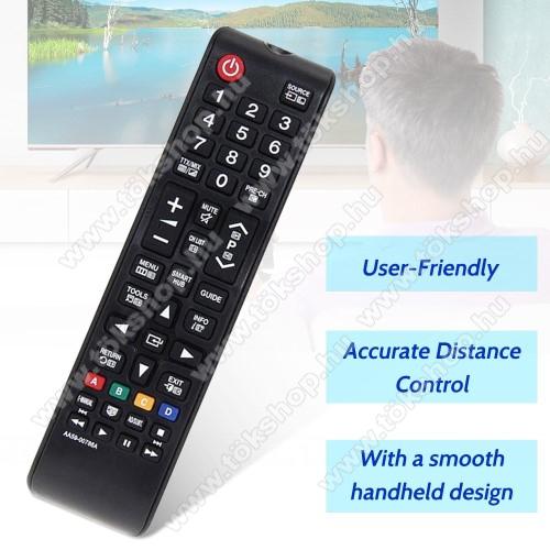 SAMSUNG AA59-00786A AA5900786A utángyártott TV távirányító -  2x AAA elemmel működik (NEM TARTOZÉK) - FEKETE