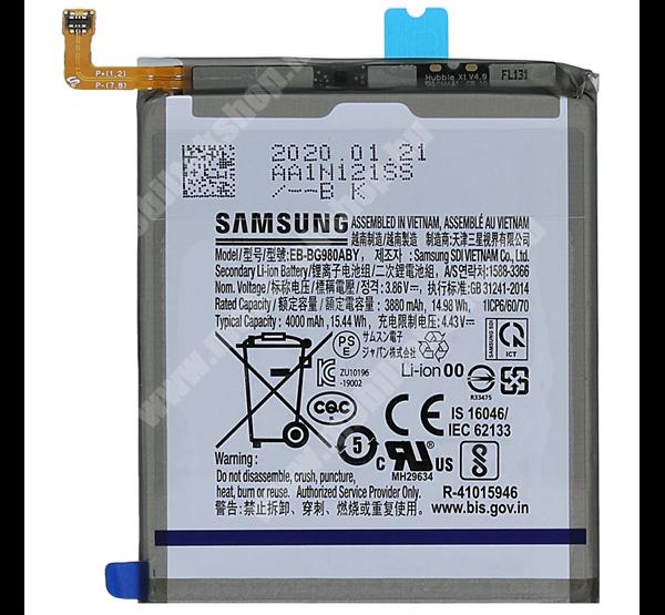 SAMSUNG Akku 4000 mAh LI-ION (belső akku, beépítése szakértelmet igényel) - SAMSUNG Galaxy S20 5G (SM-G981) - EB-BG980ABY / GH82-22122A - GYÁRI