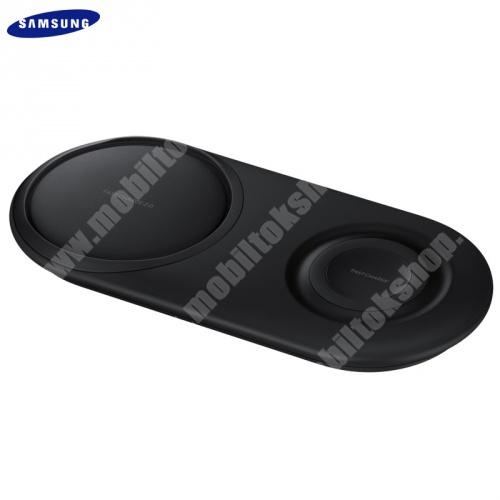 SAMSUNG asztali töltő / töltő állomás - Type-C aljzat, 2 készülék egyidejű töltése, QI Wireless, gyorstöltés támogatás - FEHÉR - EP-P5200TBEG - GYÁRI