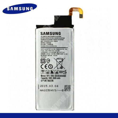 SAMSUNG EB-BG925ABE akku 2600 mAh LI-ION - SAMSUNG SM-G925F Galaxy S6 Edge - GYÁRI - Csomagolás nélküli